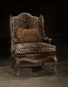 Leopard chair..I REALLY want this.