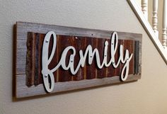 Wood Signs Family Sign Wooden Signs Family Wood Signs Best Picture For Diy Wood Signs designs For Yo Carved Wood Signs, Diy Wood Signs, Rustic Wood Signs, Rustic Wood Walls, Rustic Wall Decor, Barn Tin, Family Wood Signs, Barn Wood Crafts, Wooden Snowmen