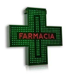Insegna Bifacciale a LED per Farmacia. Formato cm 90*90 - 64*64.