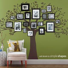 Family Tree Wall Decal for Home and Baby Nursery. $159.00, via Etsy.