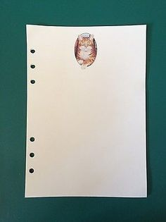 Filofax-A5-Organiser-Planner-20-Beautiful-Sheets-of-Paper-with-a-Ginger-Cat