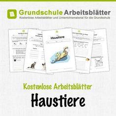 Kostenlose Arbeitsblätter und Unterrichtsmaterial für den Sachunterricht zum Thema Haustiere in der Grundschule.