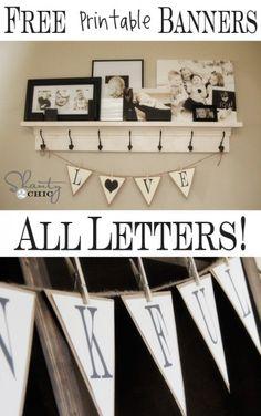 DIY Letter banner paper craft