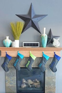 Top 15 Modern Mantel Decors For Christmas – Easy Party Interior Design Project - DIY Craft (11)