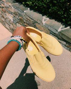 Mono Canvas Slip-on Vans Vans Shoes Women, How To Wear Vans, Summer Aesthetic, Aesthetic Yellow, Balenciaga Shoes, Vans Sneakers, Vans Old Skool, Summer Shoes, New Trends