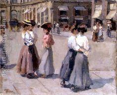 An Afternoon Stroll ~ Isaac Lazarus Israëls ~ (Dutch: 1865-1934)