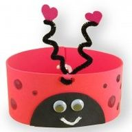 ladybug crafts | Ladybug Headband craft or DIY party favor for kids