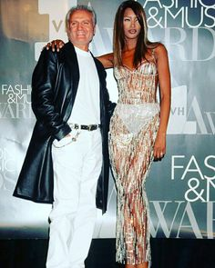 Beauty to me.. Naomi Campbell with Gianni Versace.  #gianniversace #naomicampbell #fashion #beautytomebyjeremiahvanwagenen