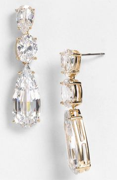 Nadri Cubic Zirconia Linear Earrings (Nordstrom Exclusive) available at Nordstrom...Love These!!!