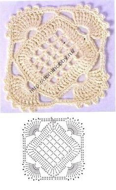 Transcendent Crochet a Solid Granny Square Ideas. Inconceivable Crochet a Solid Granny Square Ideas. Crochet Flower Tutorial, Crochet Lace Edging, Granny Square Crochet Pattern, Crochet Blocks, Crochet Flower Patterns, Crochet Diagram, Crochet Squares, Crochet Designs, Crochet Doilies