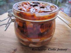 Śledzik Gajowego Seafood Salad, Fish Recipes, Preserves, Food And Drink, Pudding, Cooking, Desserts, Drinks, Christmas
