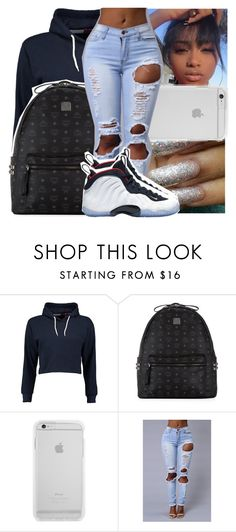 """""""— she's a bad thang . fine asl . thick af . ✨"""" by ayooshaanti ❤ liked on Polyvore featuring Boohoo, MCM and NIKE"""