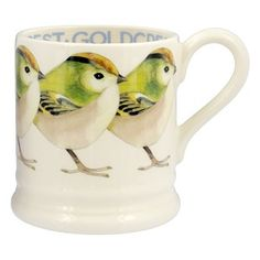 ½ pt Mug Goldcrest - Birds - Pine-apple - Importeur Emma Bridgewater