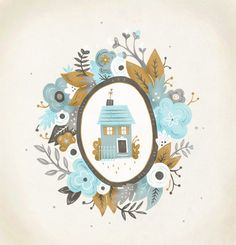Garland House  85x11 Art Print by hellokatieevans on Etsy, $20.00
