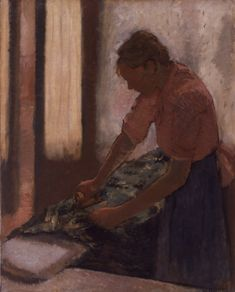 Woman Ironing, 19th century - Walker Art Gallery, Liverpool museums