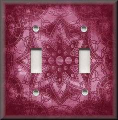 Light Switch Plate Cover - Bohemian Star Pattern - Pink - Home Decor