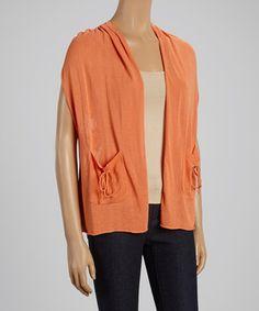 Look at this #zulilyfind! Orange Floral Crochet Vest by Nancy Yang #zulilyfinds