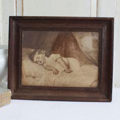 Neighborhood Garage Sale, Wooden Picture Frames, Vintage Walls, Dates, Little Girls, Original Art, Strong, French, House Styles