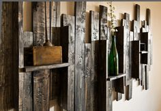 Pantalla rústico estante decorativo de la por UrbanWestDesigns