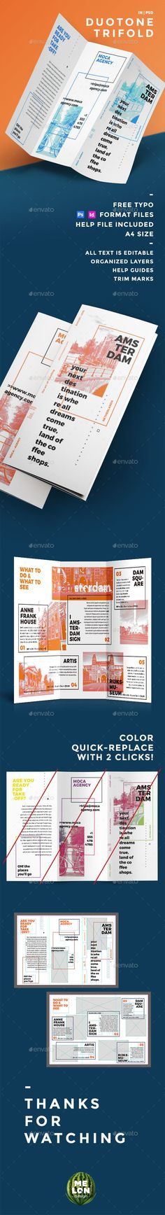 Andalucia Trifold Brochure template, Brochures and Corporate - advertising brochure template