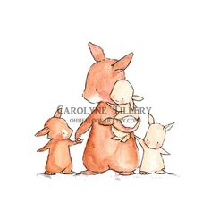 Bébés de mamanpépinière Art Illustration Print