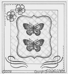 Claralesfleurs - Sketch de carte CD002