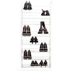 12 Pair Over the Door Shoe Rack