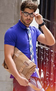 (The first time I have seen a tie with a polo style shirt) being schooled #menswear #simplydapper #stylish