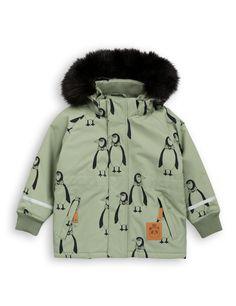 Mini Rodini parka winterjas K2 Mini Penguin