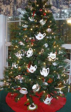 Christmas Tea Tree! (tabletop tree, so cute!)