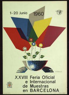 XXVIII Feria Oficial e Internacional de Muestras en Barcelona : 1-20 de Junio 1960 :: Cartells (Biblioteca de Catalunya)