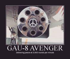 "Gotta love the Avenger ""Tank Killer"" chain gun equipped on the Thunderbolt II (aka The Warthog). Humor Militar, Us Navy, Avenger Time, A10 Warthog, Aviation Humor, Military Memes, Funny Military, Military History, Naval"