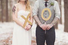 xoxo winter wedding inspiration