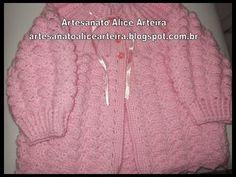 CASAQUINHO EM CROCHÊ PARA BEBÊ passo a passo Crochet Baby Sweaters, Crochet Baby Cocoon, Crochet Bebe, Crochet Baby Clothes, Crochet Baby Shoes, Crochet For Kids, Baby Knitting, Crochet Hats, Baby Patterns