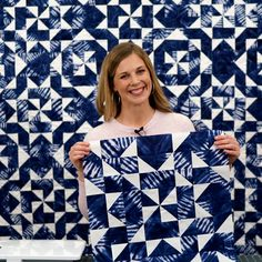 The Antique Lace quilt is particularly beautiful in Shibori blues! In the Missouri Star LIVE replay, Misty teaches a new twist on this gorgeous classic! Follow the link below to watch the replay now. #MissouriStarQuiltCo #MSQC #MissouriStarLive #Shibori #ShiboriFabric #MistyDoan #AntiqueLaceQuilt #QuiltTutorial #Quilt #Quilting #QuiltPattern #HowToQuilt #QuiltBlocks #Sewing #DIYHomeDecor