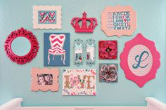 Teal, Pink & Chevron Nursery