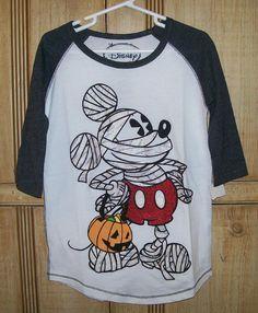 DISNEY Girls' Mickey Mouse Mummy Halloween Tee Sz (S) Small (5-6 Years) NWT  #DISNEY