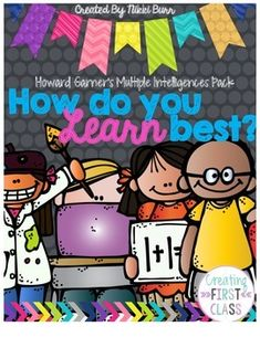 """Are you incorporating differentiated instruction into your daily lessons? Have you introduced Howard Gardner's Multiple Intelligences to your students? Use this to display and allow your students to take ownership of their learning! This pack includes: - 8 BRIGHT Display Posters Explaining the different """"smarts"""" and intelligences. - A """"How do I Learn Best?"""" survey, friendly for"""