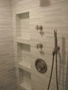 Contemporary Bathroom Ideas | Barcode Glass Tile - modern - bathroom - jacksonville - by Eberling ...