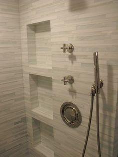 Contemporary Bathroom Ideas   Barcode Glass Tile - modern - bathroom - jacksonville - by Eberling ...
