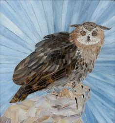 Owl - Stained Glass Mosaic by Mary C Driver http://www.marydrivermosaics.com/