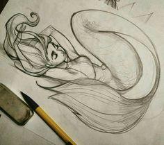 Detailed mermaid