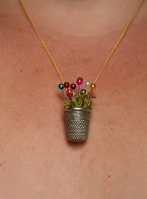The Wind and The Sail: The Thimble Necklace Tutorial