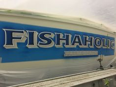 #TRANSOM: Fishaholic, Palm Beach #Boat #Transom #BoatTransom  TRANSOM #TECHNIQUE: #CustomBoatLettering  #BOAT #BUILDER #BoatBuilder: #SpencerYachts, #NorthCarolina