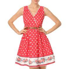 Yumi Red/White Polka Dot Dress - BrandAlley flash sales