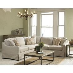 Belgian Linen Slipcover Look Sectional - Belfort Furniture - Sofa Sectional Washington DC, Northern Virginia, Maryland and Fairfax VA