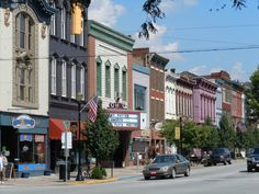 Downtown beautiful Chapel Springs, Indiana (actually Madison IN)