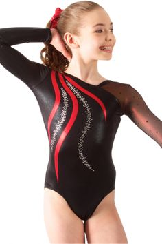 Sylvia P - Womens Leotards - Long Sleeve - Mali B Hologram Mesh