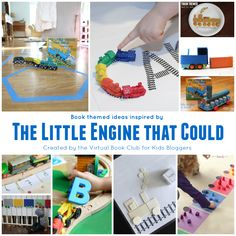Train Themed Activities for Kids inspiredi by the classic book The LIttle Engine that Could from the Virtual Book Club for Kids