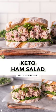 *NEW* Creamy, tangy, and so satisfying, this keto ham salad is the perfect use of your leftovers, although soon you'll buy ham just to make it! #ketohamsalad #lowcarbhamsalad #lowcarbsalad #ketosalad #lowcarbsalads #ketosalads #lowcarblunch #ketolunch #lowcarbdinner #ketodinner Low Carb Lunch, Low Carb Dinner Recipes, Good Healthy Recipes, Quick Recipes, Quick Meals, Keto Recipes, Yummy Recipes, Recipies, Yummy Food